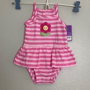 Carter's Pink Striped Baby Onesie Sunsuit!